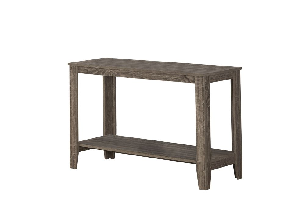 Monarch Specialties Dark Taupe Reclaimed-Look Sofa Console Table