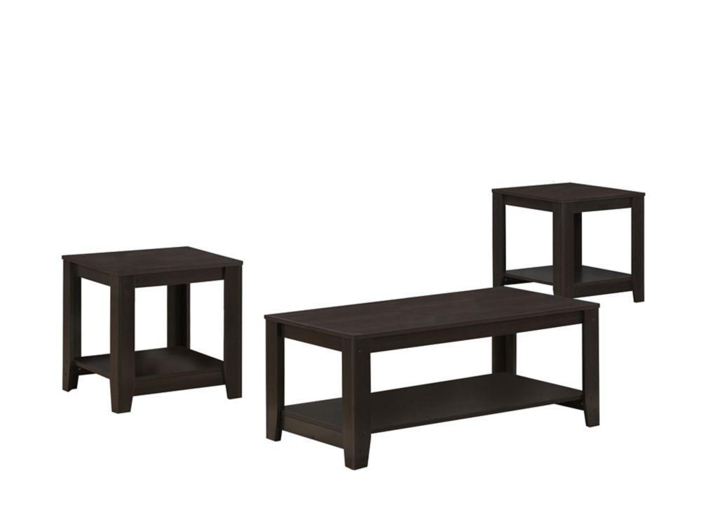 Cappuccino 3Pcs Table Set