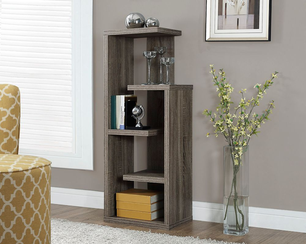 "Dark Taupe Reclaimed-Look 48""H Accent Display Unit"