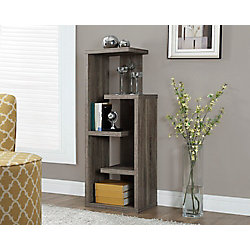 "Monarch Specialties Dark Taupe Reclaimed-Look 48""H Accent Display Unit"