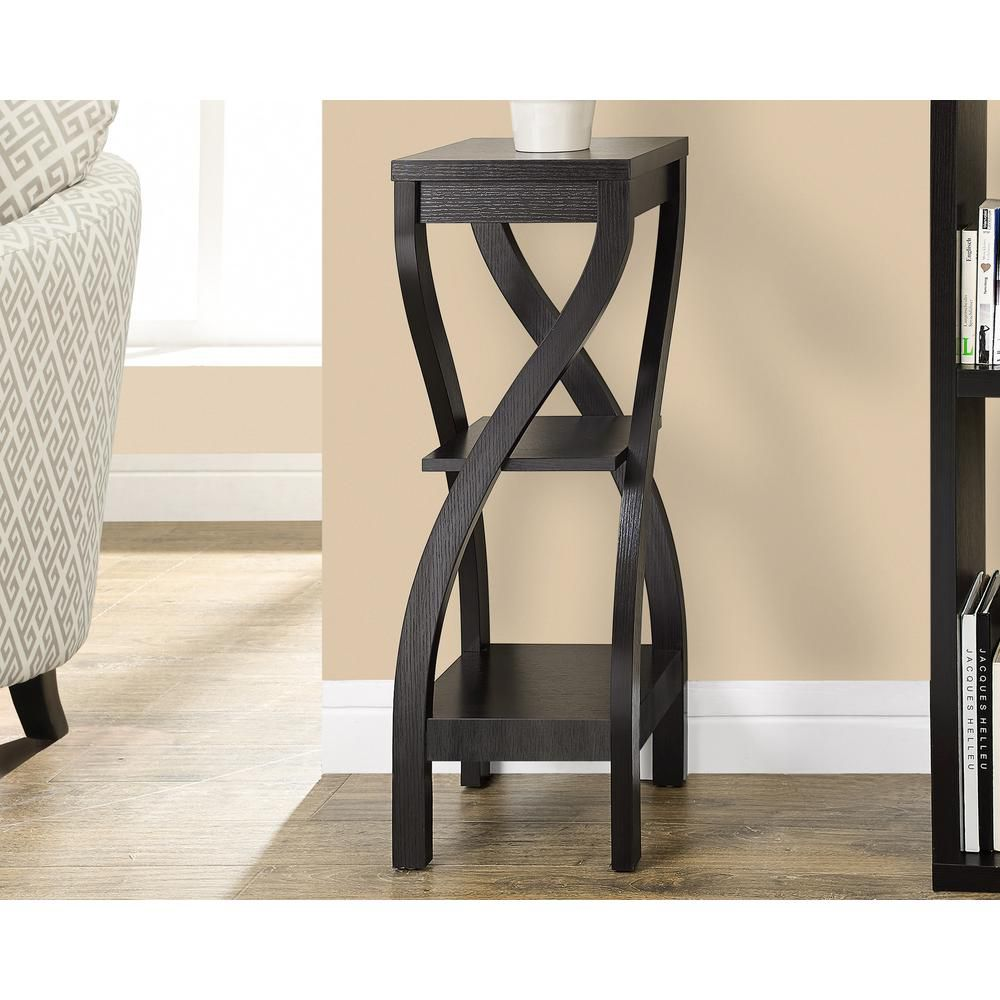 "Monarch Specialties Cappuccino 32""H Plant Stand"