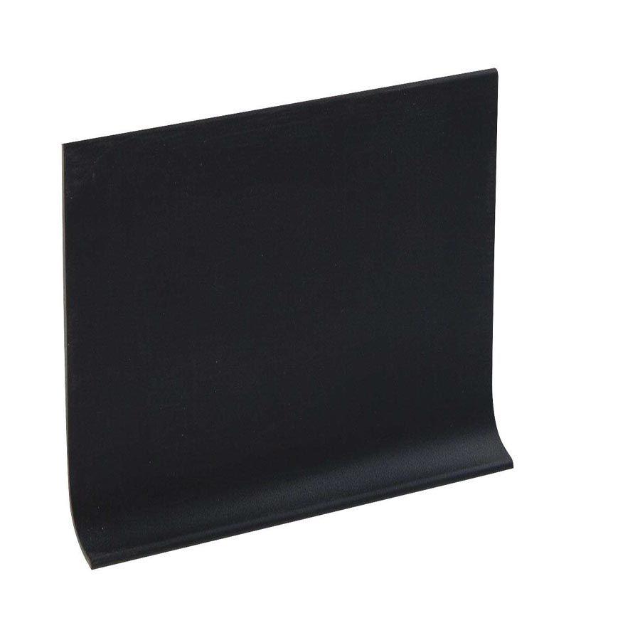 Shur Trim 4 Inch Rubber Boxed Wall Base - 100 Feet - Black
