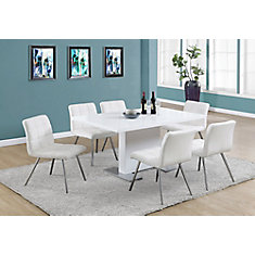 35-inch W x 60-inch L Dining Table in High Glossy White