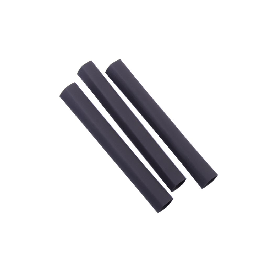 Heat Shrink Tubing, 3/8 Inch - 3/16 Inch, Black, 3 Inch, 3/Clam