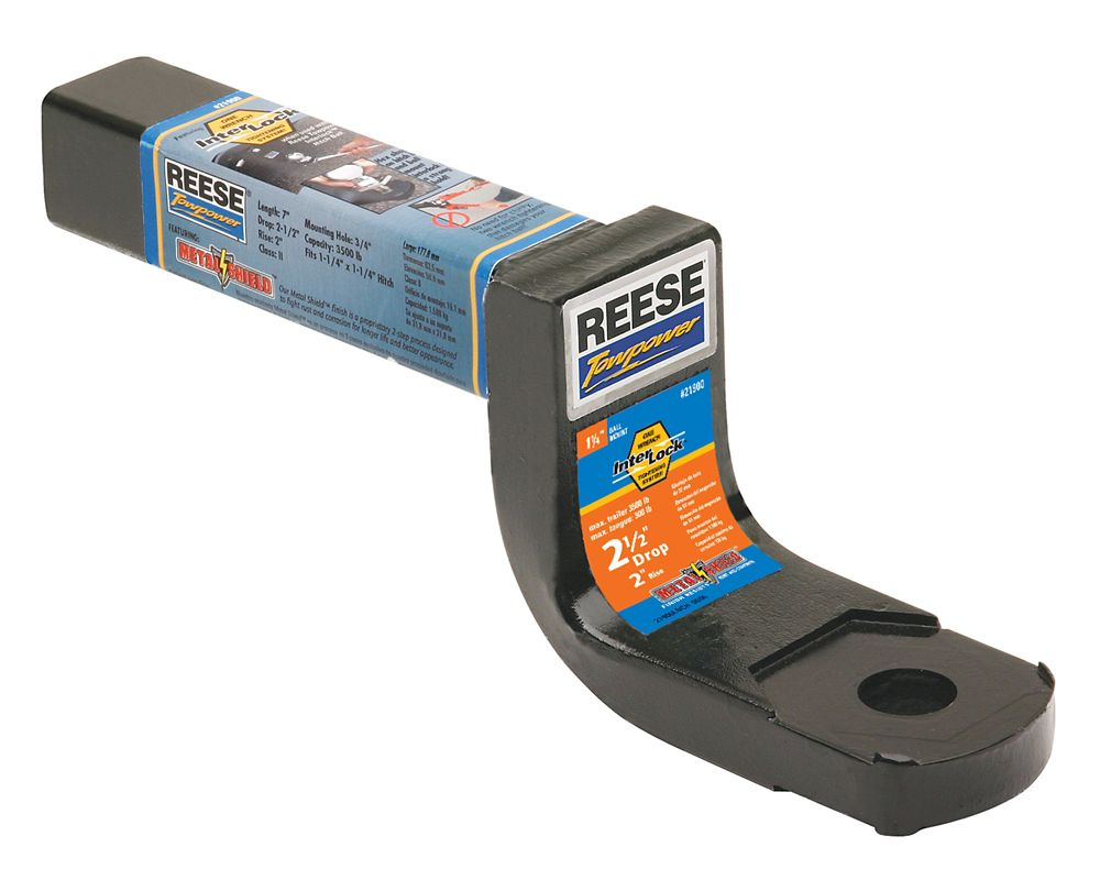 Reese Towpower 1-1/4 Inch Interlock Class II Ball Mount, 2-1/2 Inch Drop
