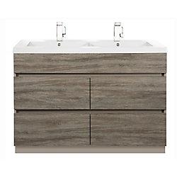 Cutler Kitchen & Bath Boardwalk 48-inch W Vanity in Brown