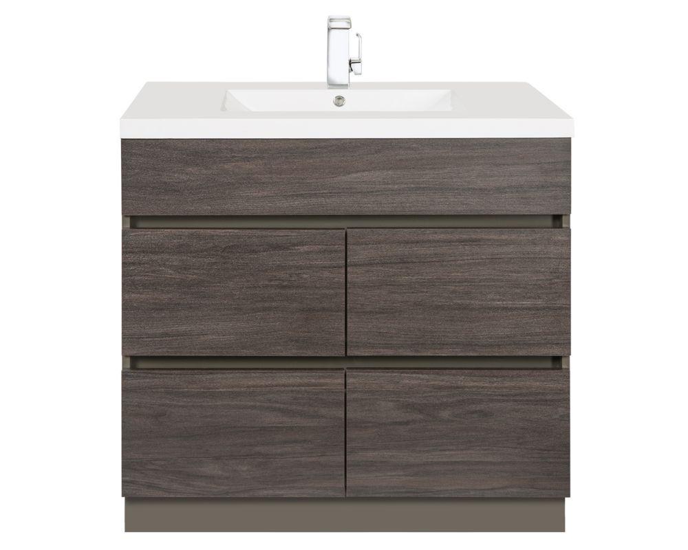 Cutler Kitchen Bath Boardwalk 36 Inch Vanity Cabinet In Karoo Ash Sundown The Home Depot Canada