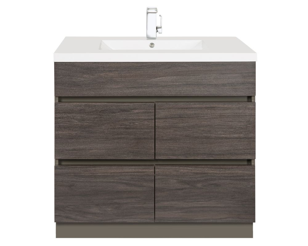 Boardwalk 36-Inch  Vanity Cabinet in Karoo Ash Sundown