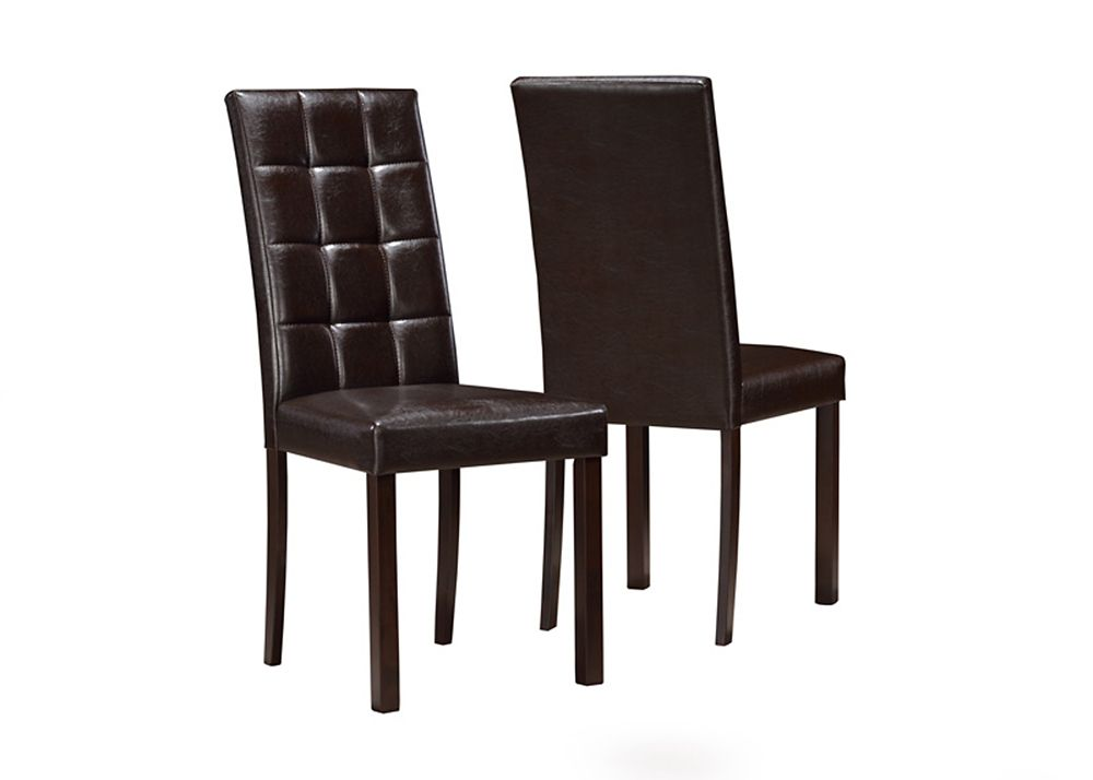 "Dark Brown Leather-Look 38""H Dining Chair / 2Pcs Per Ctn"