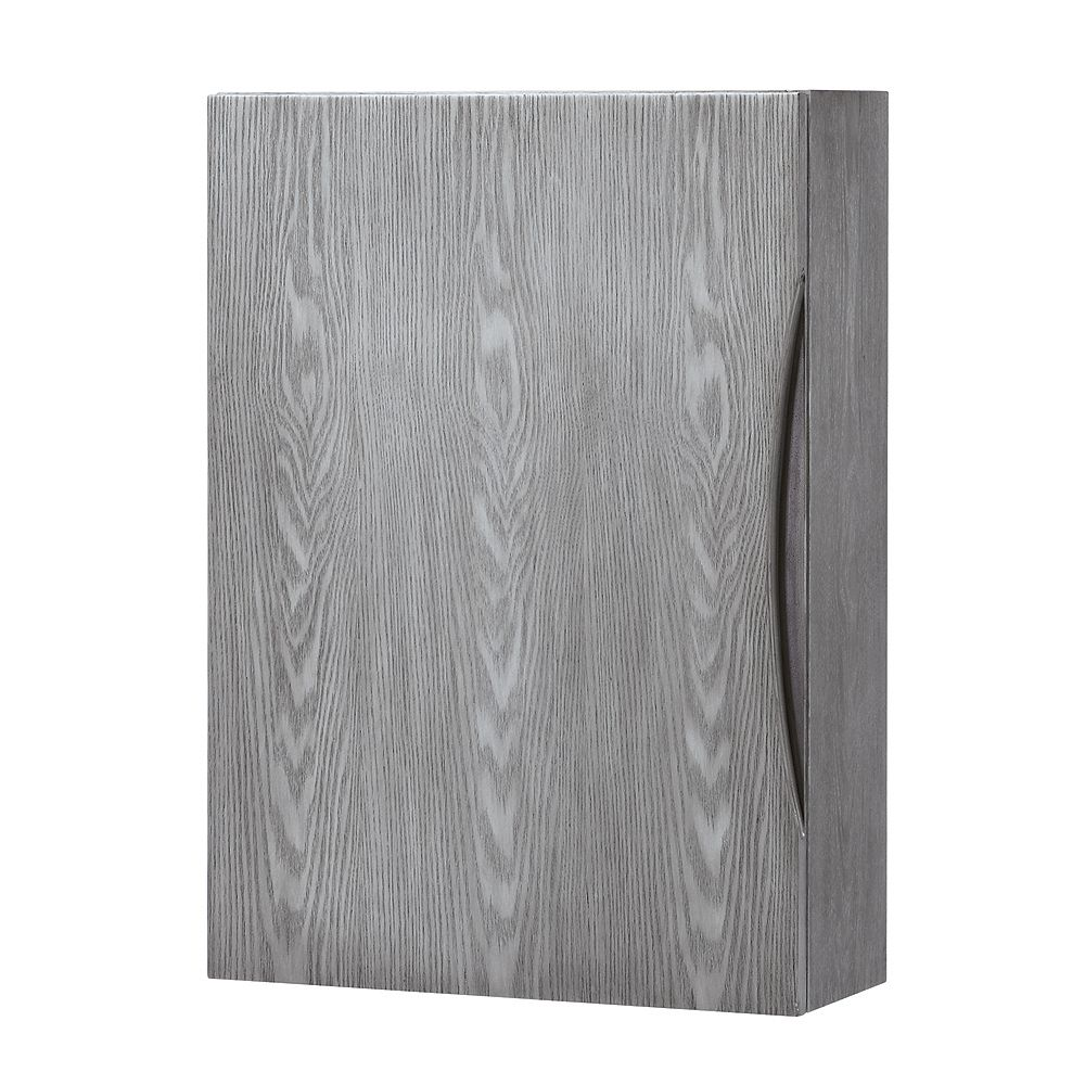 Home Decorators Collection 20-inch Wood-Frame Wall Cabinet in Ash Gray