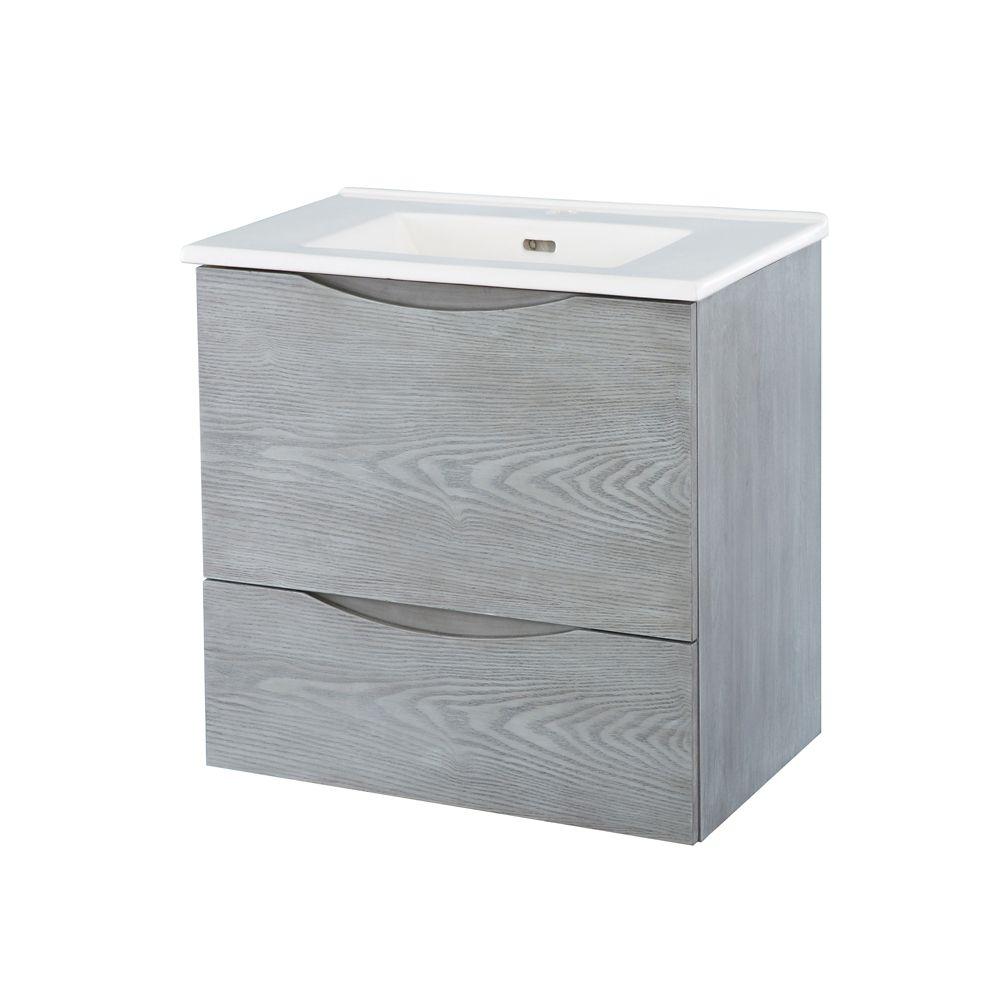 Meuble-lavabo à installer au mur de 60,96cm (24po)
