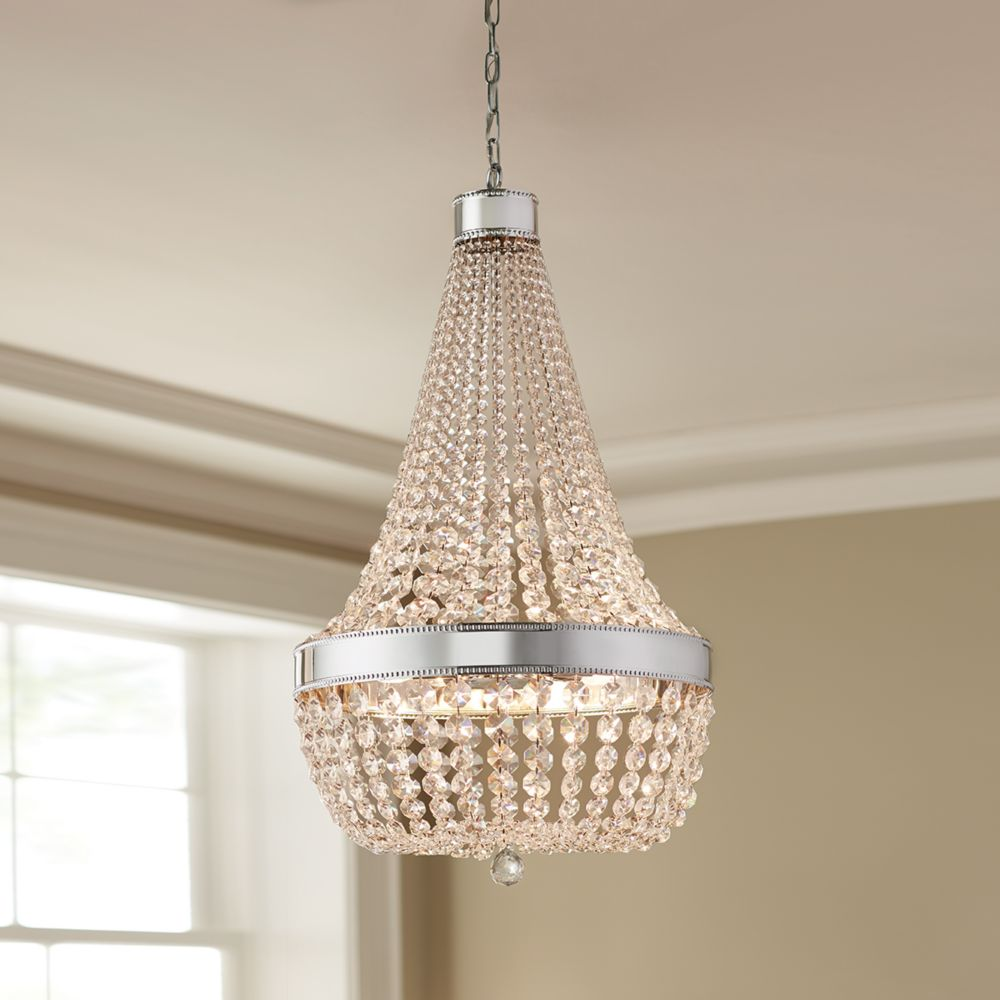 Home Decorators Collection Deamber 6 Light Chrome Chandelier The Depot Canada
