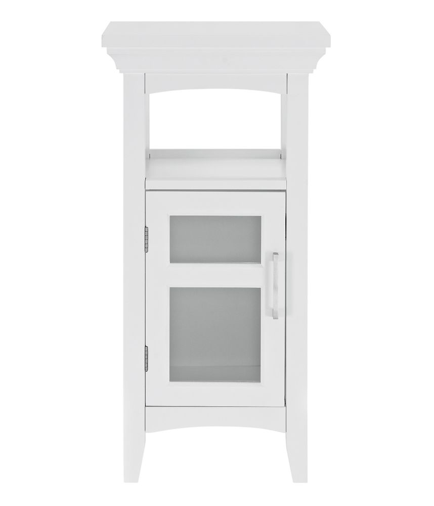 Bath Storage Floor Cabinet - White