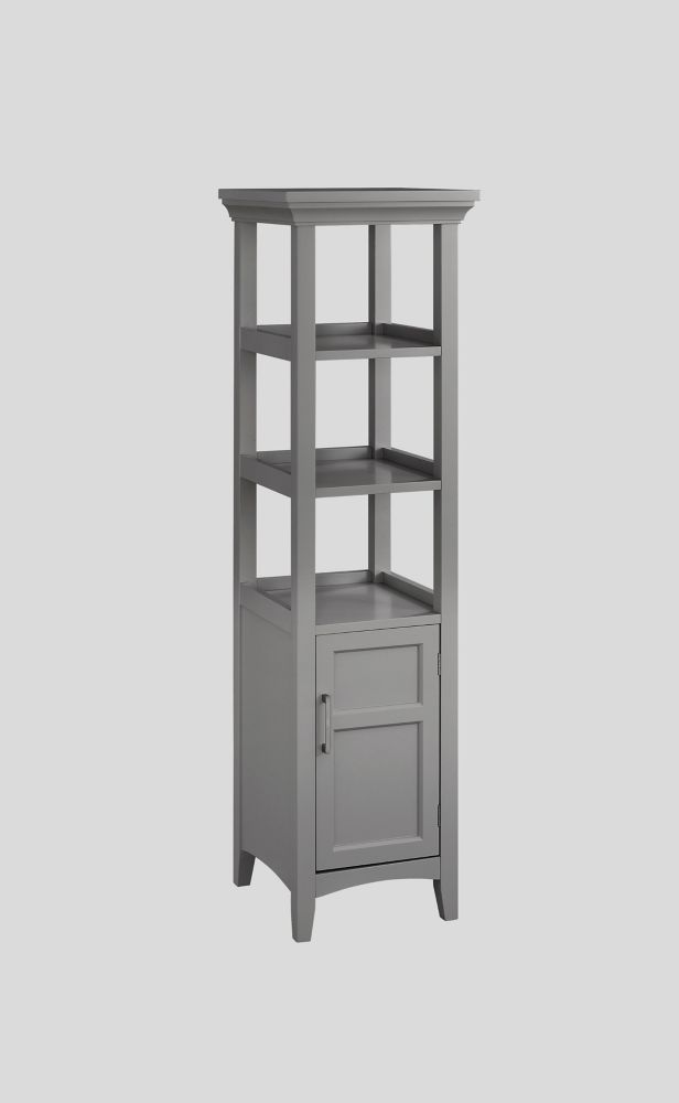 GLACIER BAY 1-Door Bath Storage Tower in Grey | The Home ...