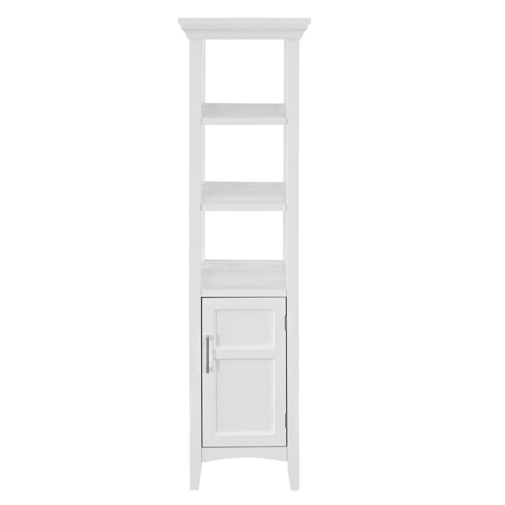 Bath Storage Tower - White