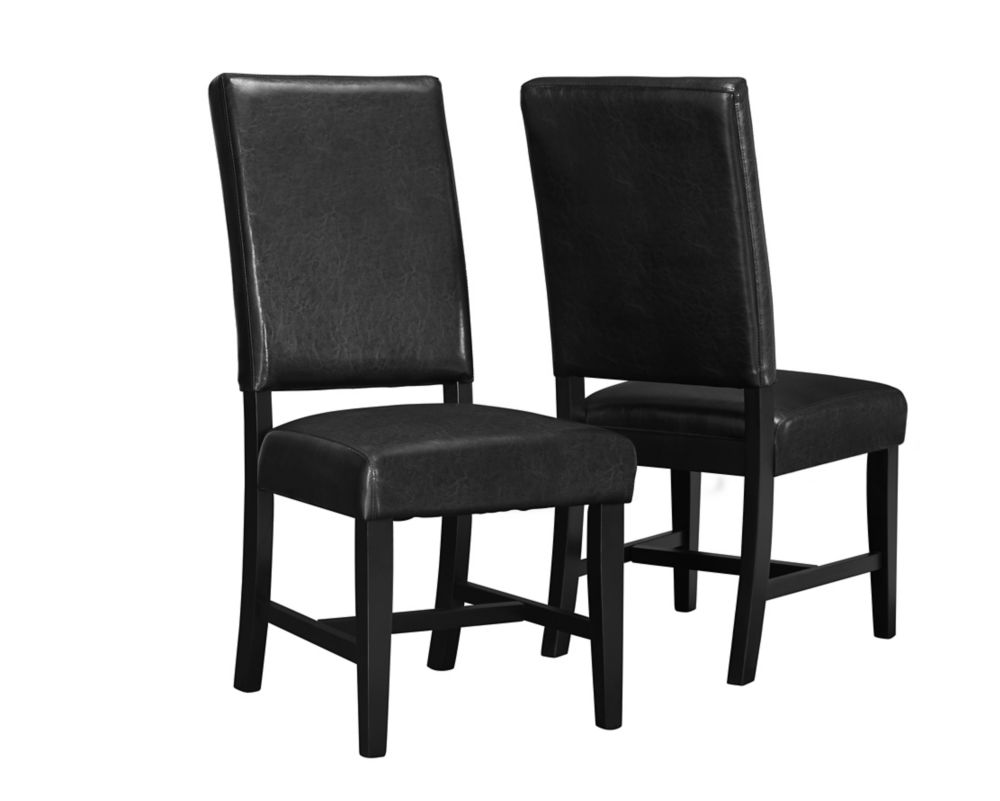 "Black Leather-Look 40"" Side Chair / 2Pcs Per Carton I 1621 in Canada"
