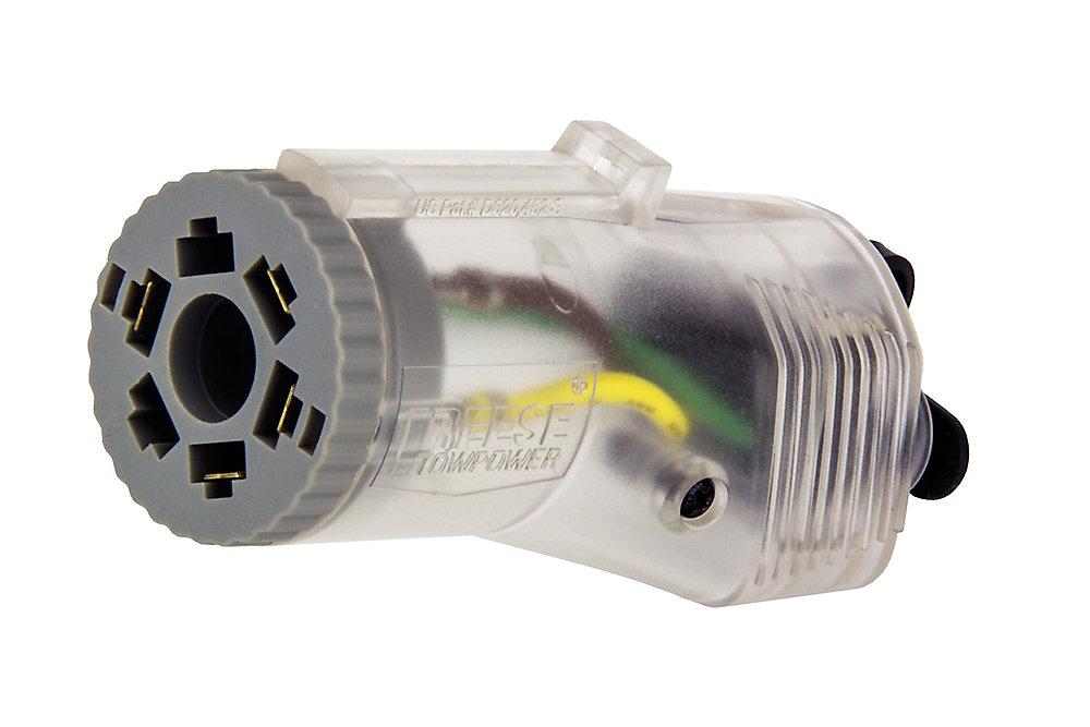 Connecteur de 7 à 4 voies REESE Towpower avec Tow-Glo
