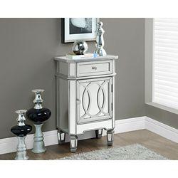 """Monarch Specialties Table D'Appoint - 29""""H / Argent Brosse / Miroir"""