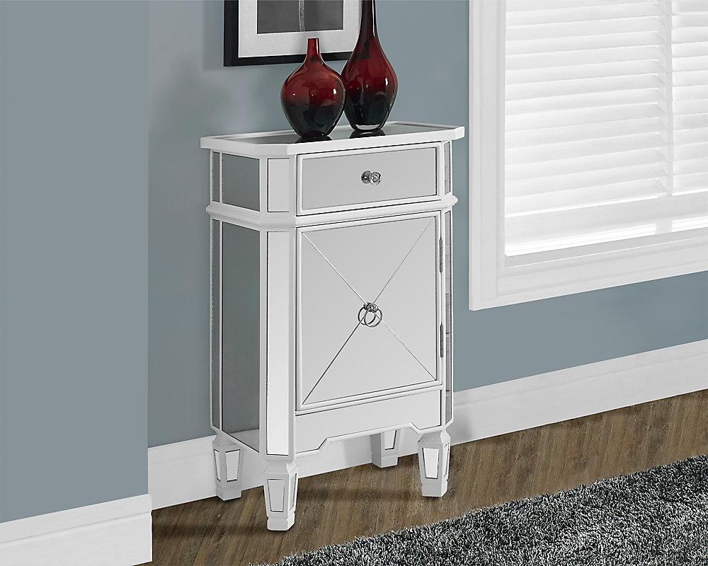 Commode - Blanc Satine / Miroir