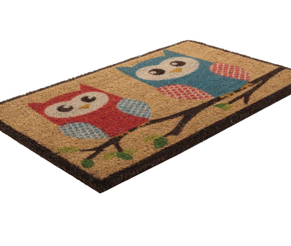Home Decorators Collection Branch Out Beige and Tan 1 ft. 6-inch x 2 ft. 6-inch Indoor/Outdoor Rectangular Coir Door Mat
