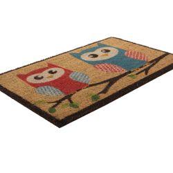 Home Decorators Collection Paillasson d'intérieur/extérieur Branch Out, 1 pi 6 po x 2 pi 6 po, rectangulaire, fibre de coco, beige et havane