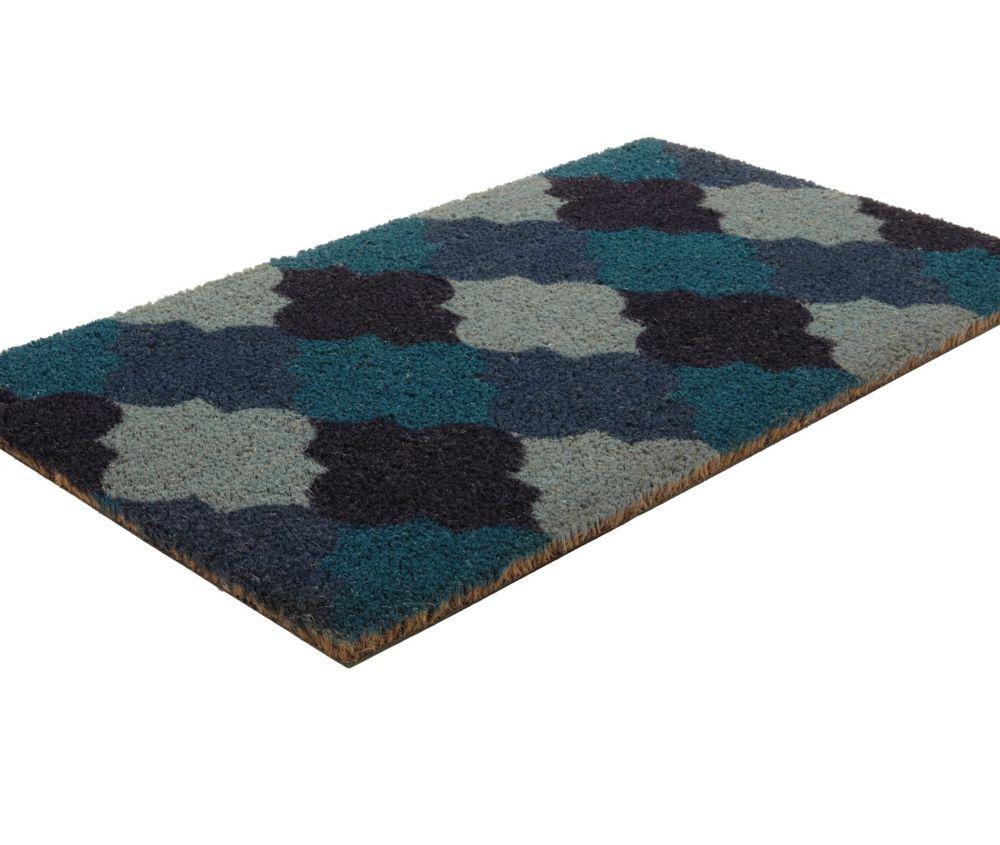Moroccan Tile Coir Door Mat