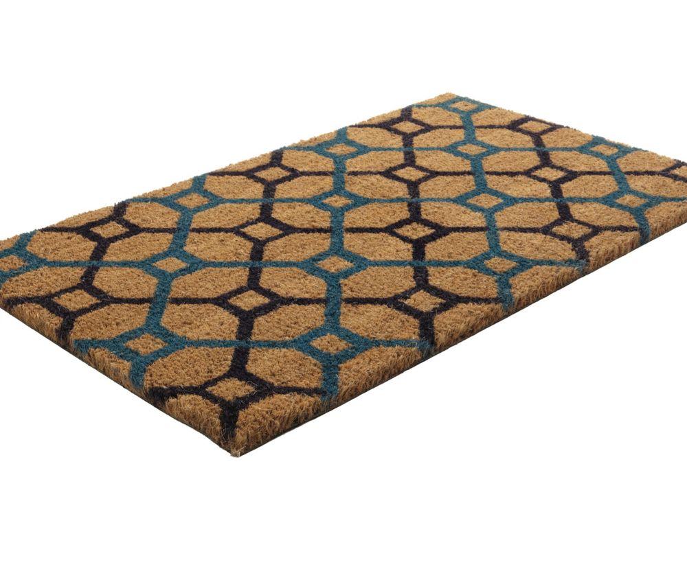 Paillasson en fibres de coco à motif grille