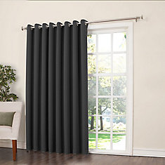 Griffin Grommet Room Darkening 54 Inch X 84 Inch Black Panel