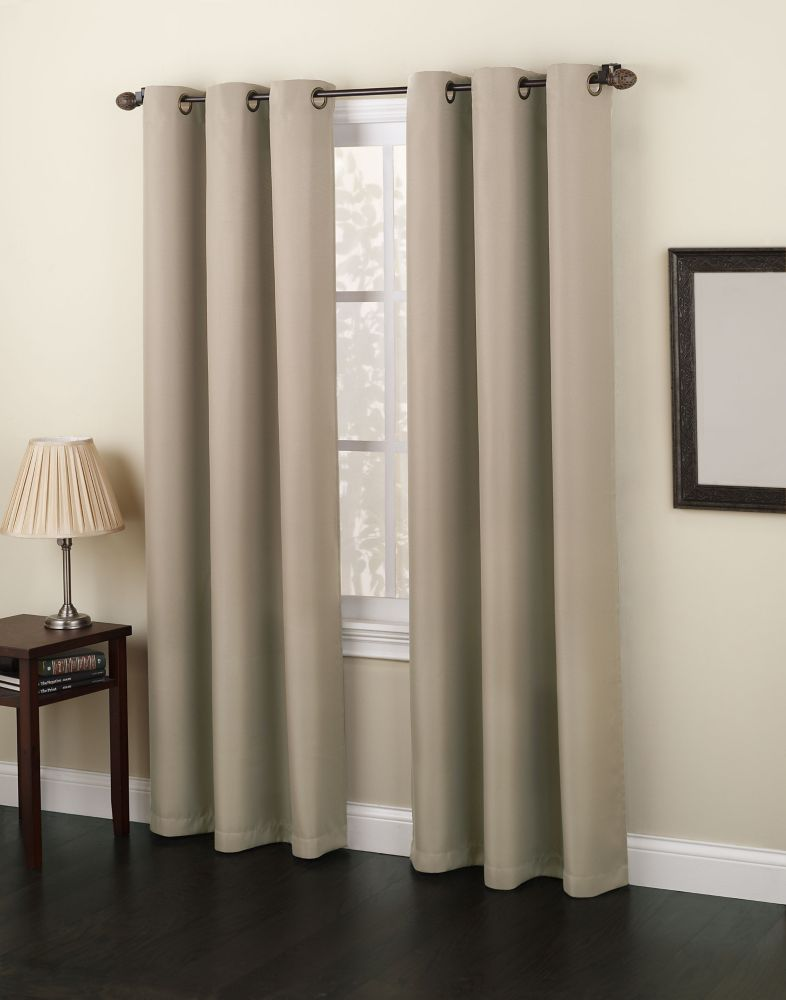 Monterey Grommet 48 Inch  X 84 Inch  Taupe Panel