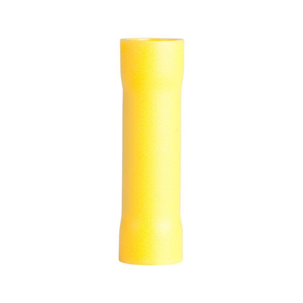 Gardner Bender Butt Splice Crimp Connector, 12-10 AWG, Yellow, 15/Clam