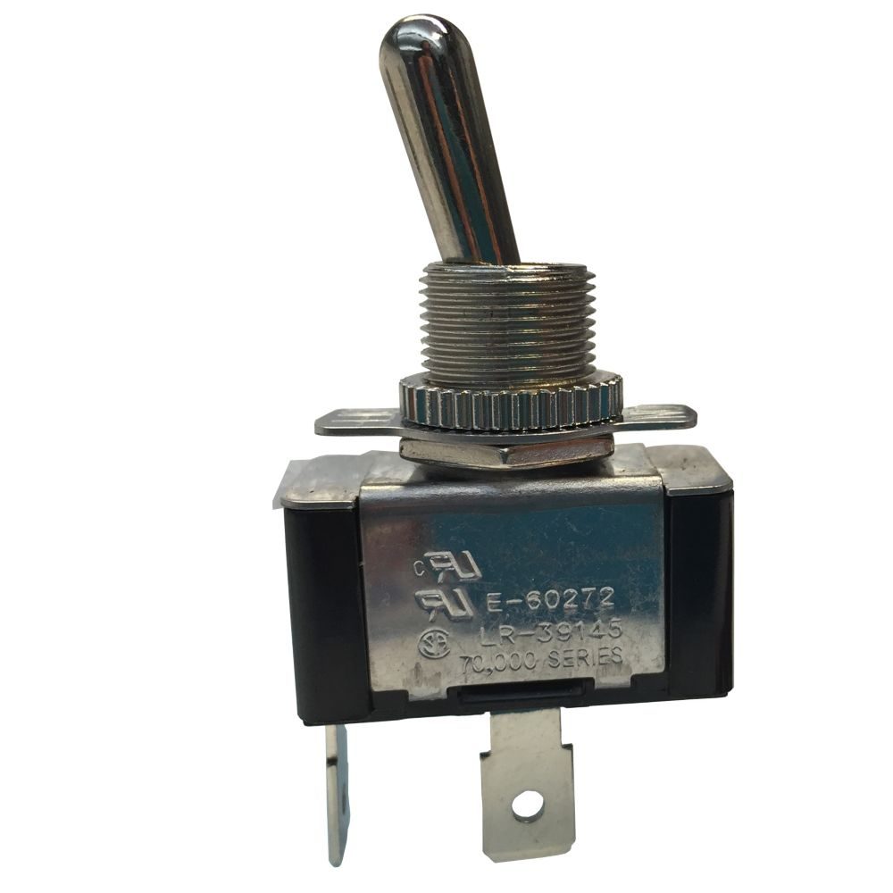 Toggle Switch, 20A 125VAC, On/Off, 1/Card