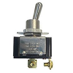 Interrupteur à levier service intense, unipolaire unidirectionnel, 20 A 125 VCA, marche-arrêt, 1/pq.