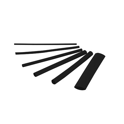 Gardner Bender 3-inch L x Assorted Diameter Heat Shrink Black Tubing (Set of 160)