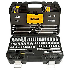142 Piece 1/4 in & 3/8 in Drive Mechanics Tools Set