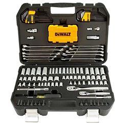 DEWALT 1/4-inch x 3/8-inch Drive Polished Chrome Mechanics Tool Set (142-Piece)