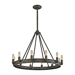 Titan Lighting Lewisburg 12-Light Malted Rust Chandelier