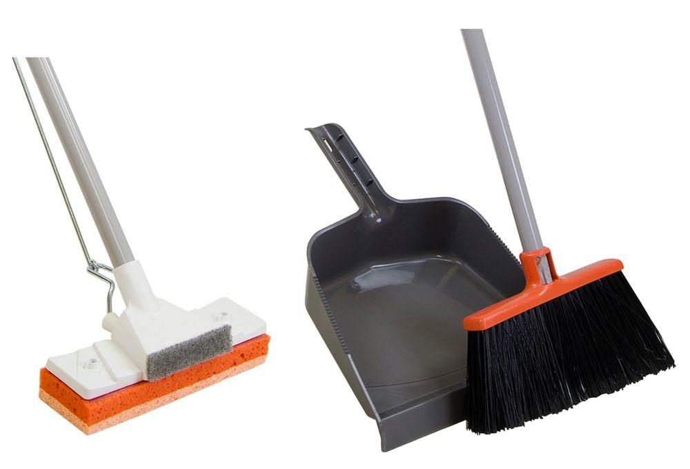 Sponge Mop & Broom Combo