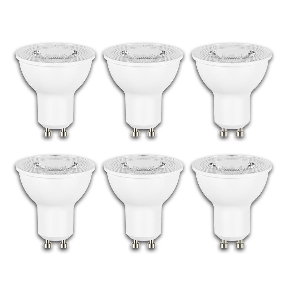 50W Equivalent Daylight (5000K) GU10 Dimmable LED Flood Light Bulb (6-Pack)