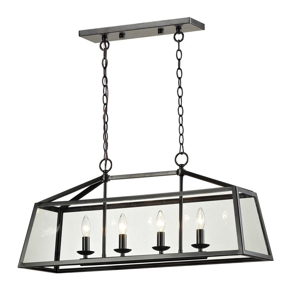 Titan lighting luminaire suspendu 4 ampoules alanna au for Luminaire ampoule suspendu