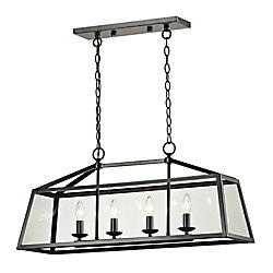 Titan Lighting Alanna Collection 4 Light Pendant In Oil Rubbed Bronze