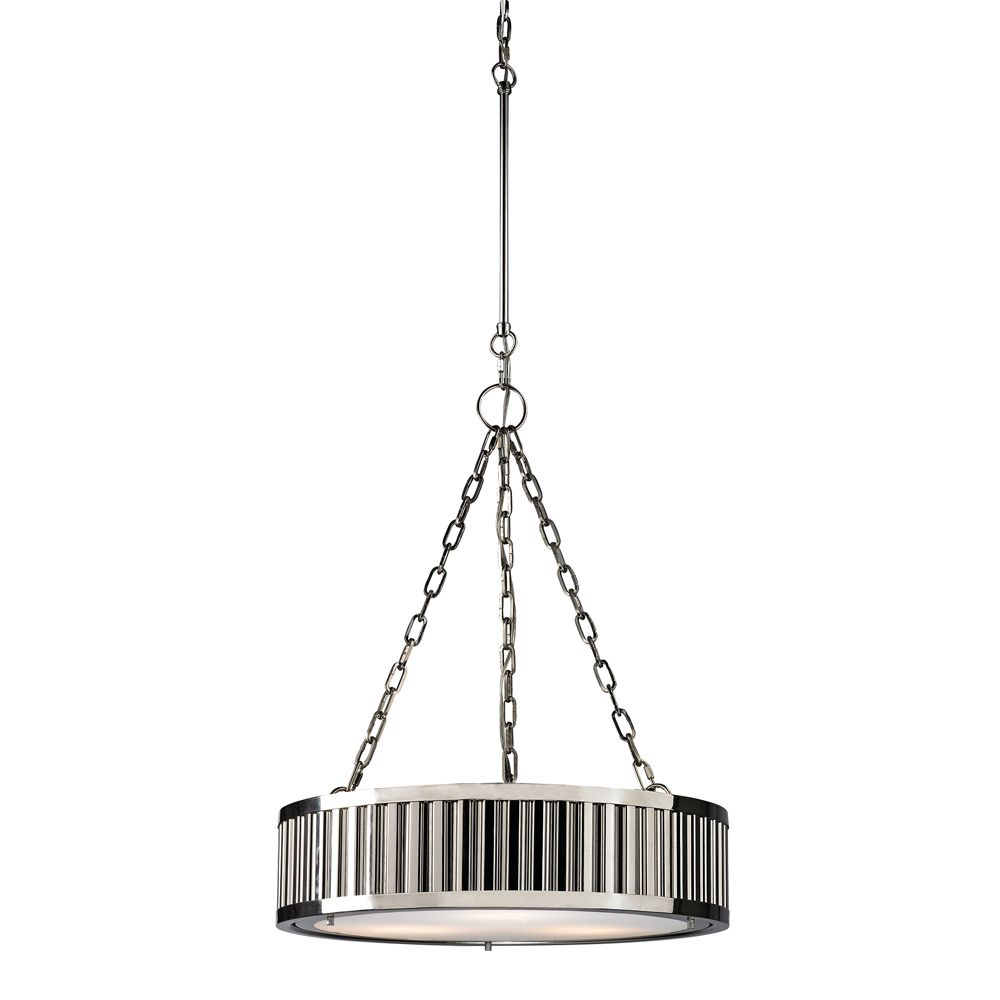 Linden Collection 3 Light Pendant In Polished Nickel - LED