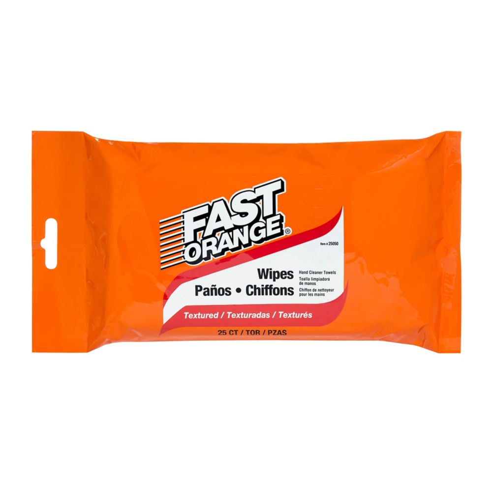 Fast Orange Hand Cleaner Wipes - 25 count