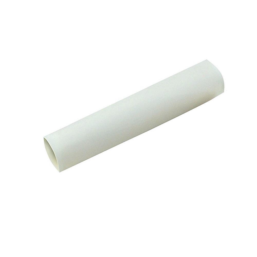 Heat Shrink Tubing, 1/2 Inch - 1/4 Inch, White, 3 Inch, 3/Clam