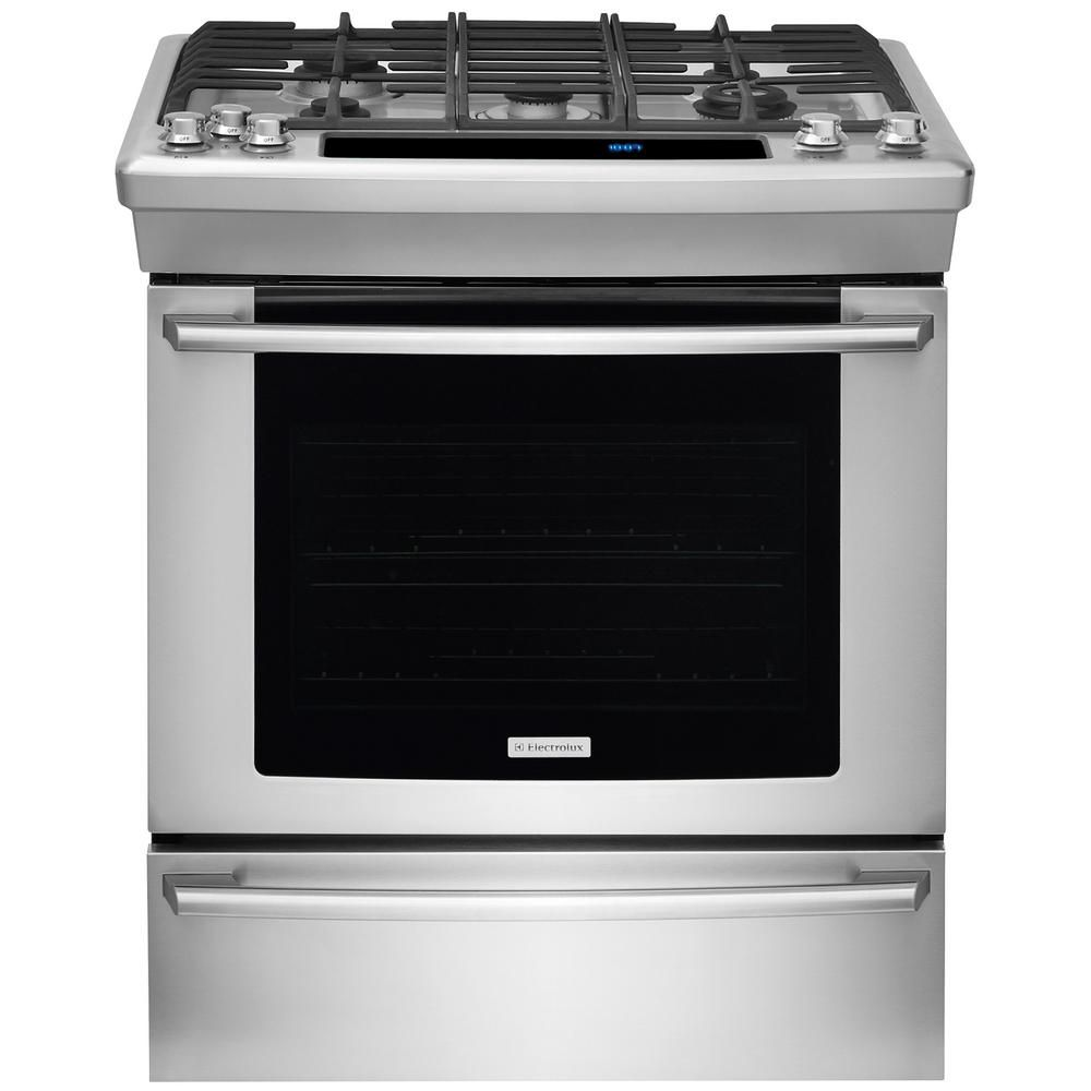 4.2 cu. ft. Slide-In Gas Range in Stainless Steel