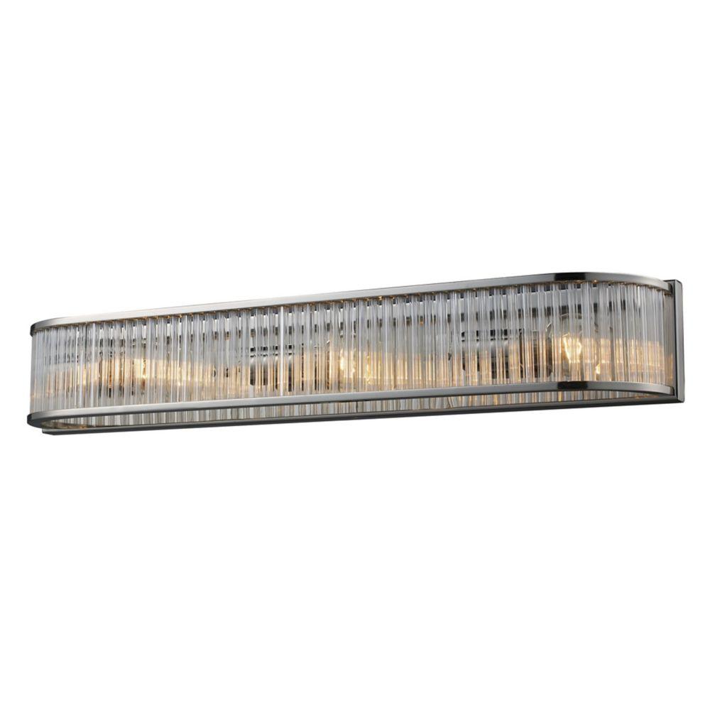 Braxton 3-Light Vanity In Polished Nickel