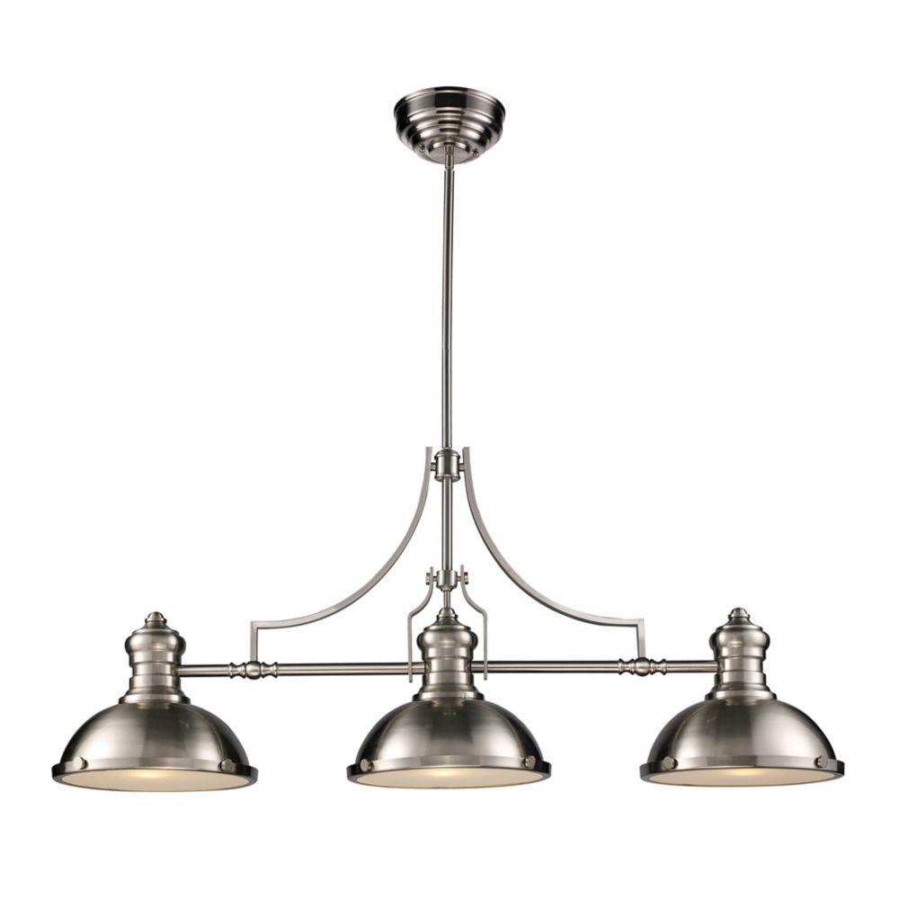 Chadwick 3-Light Billiard/Island Light In Satin Nickel