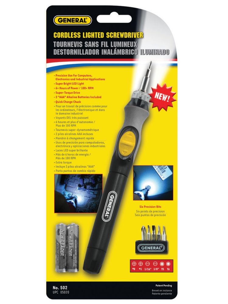 Cordless Lighted Screwdriver