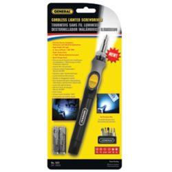 General Cordless Lighted Screwdriver