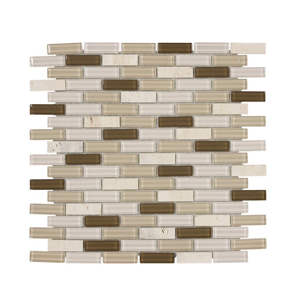 Outback 11.75Inch x 12Inch x 6mm Stone/Glass Mosaic
