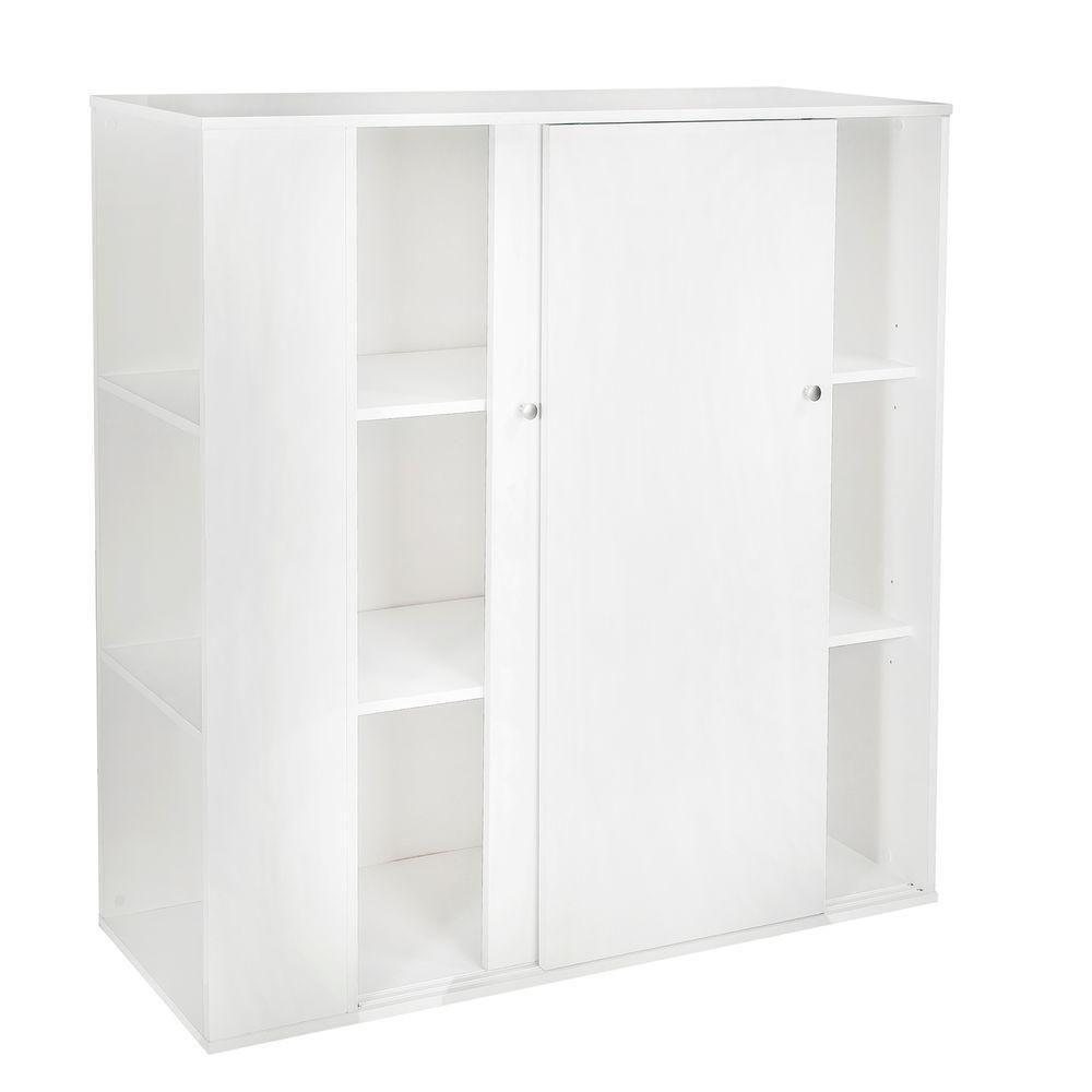 Storit Kids Storage Cabinet with Sliding Doors, Pure White